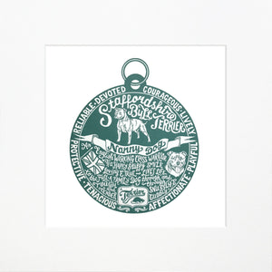 """Dog Tag"" print for Staffordshire Bull Terrier lovers"