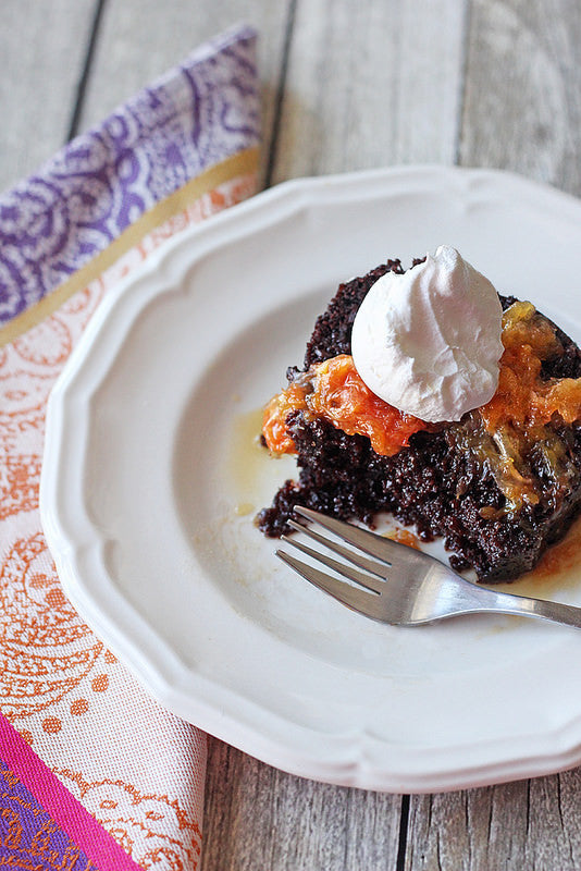 Chocolate Cake with Burnt Oranges