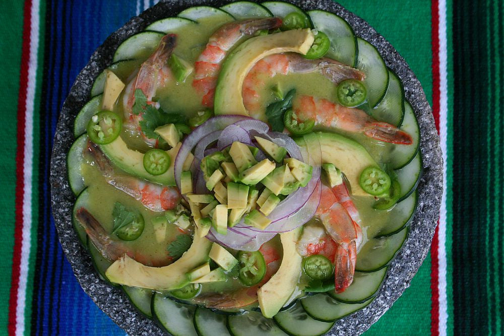 SHRIMP AGUACHILE WITH SPICY HASS AVOCADO SAUCE – Diabetic Friendly