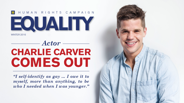 Actor Charlie Carver Comes Out as Gay