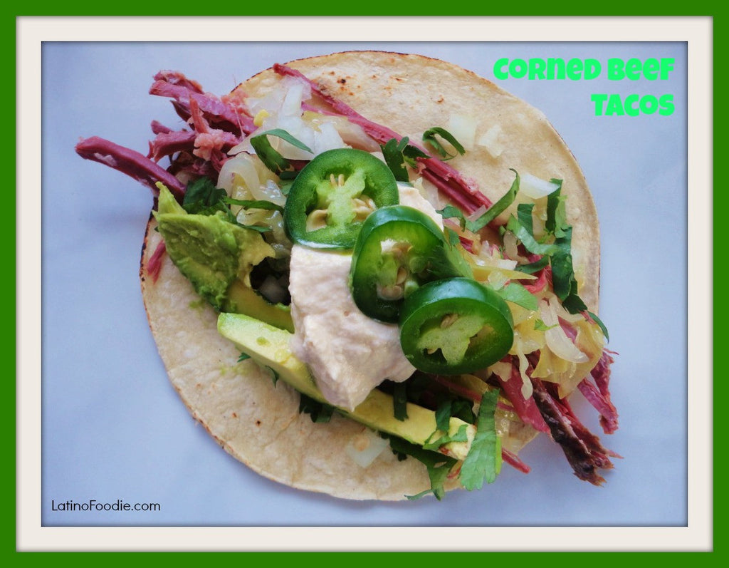 St. Patrick's Day Slow Cooked Corned Beef Tacos Recipe