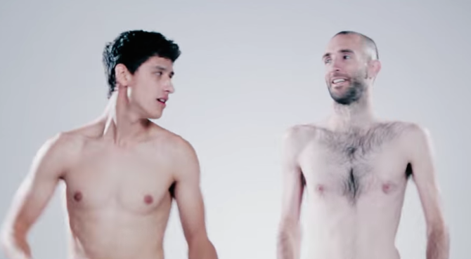 Watch Male Friends Freak Out When They Strip In Front Of Each Other
