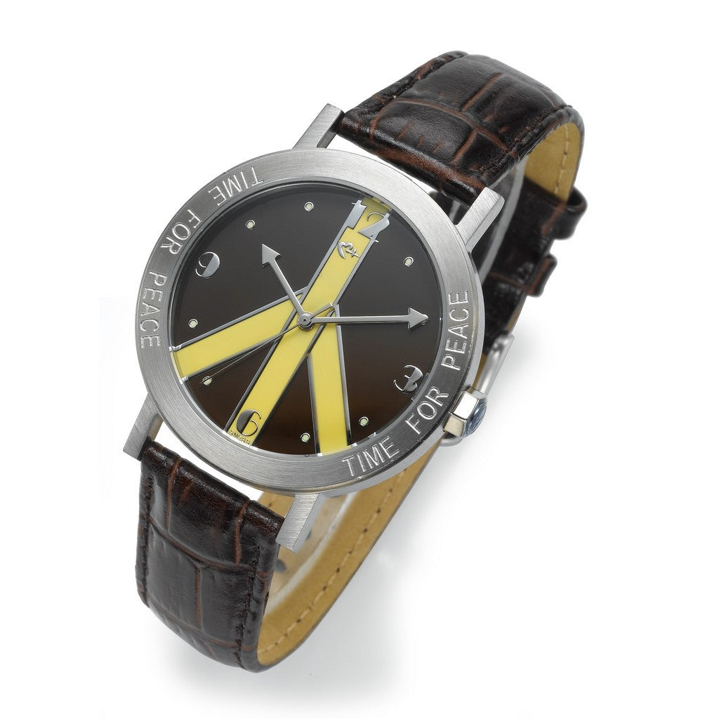 Brown and Yellow Watch