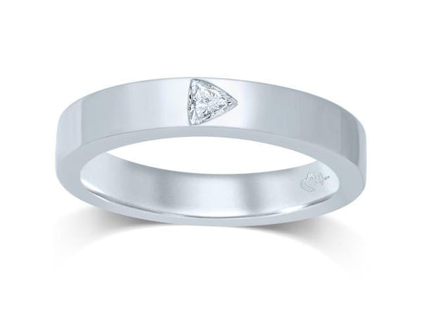 14K White Gold 1/8CT Dimond Band