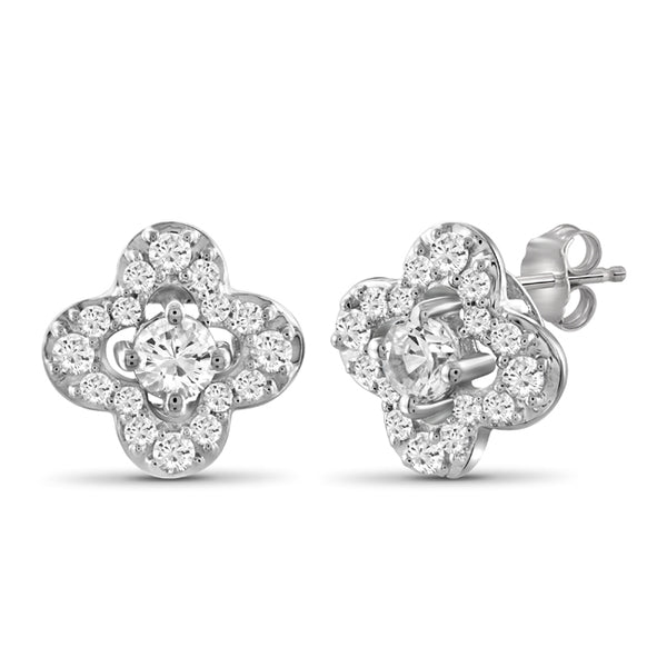 Diamonair Gold Flower Earrings