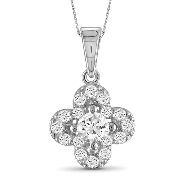 Diamonair Gold Flower Pendant with Chain