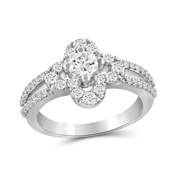 Diamonair Gold Flower Ring