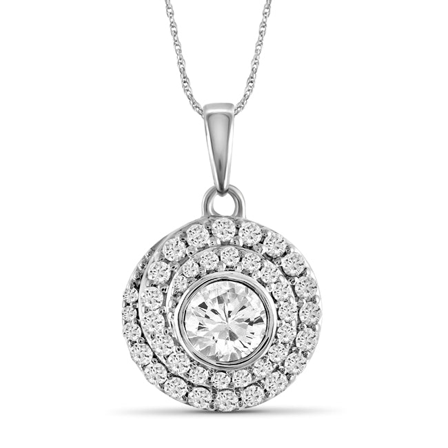 Diamonair gold circle pendant with chain love and pride aloadofball Choice Image