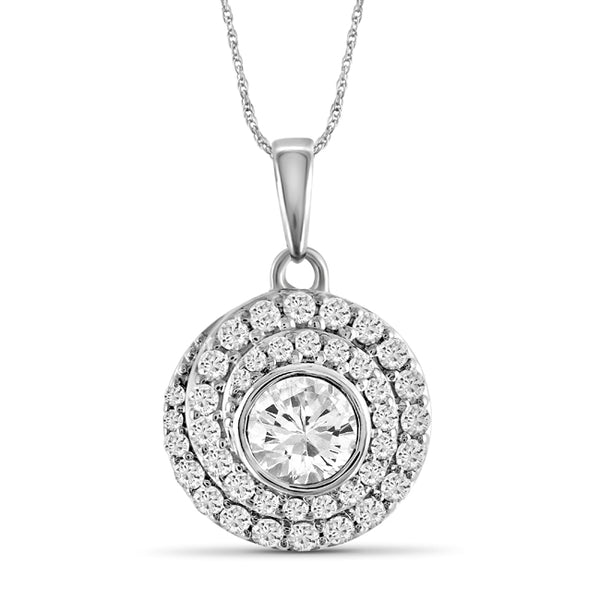 Diamonair Gold Circle Pendant with Chain