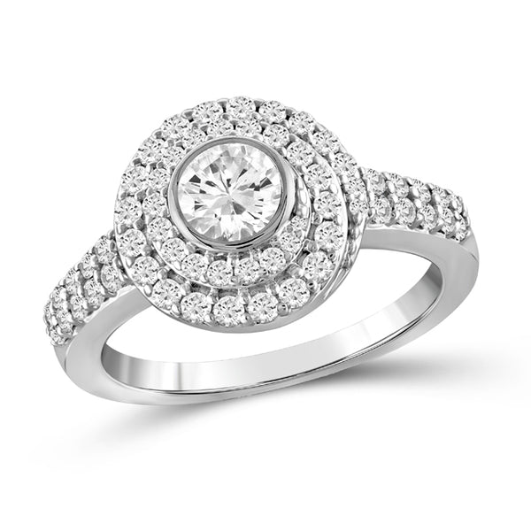 Diamonair Gold Circle Ring