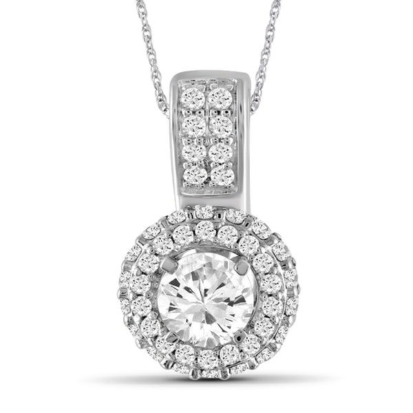 Diamonair Gold Double Row Pendant with Chain