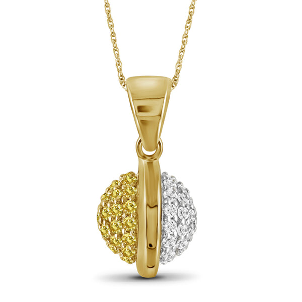 Diamonair Gold Round Pendant with Chain