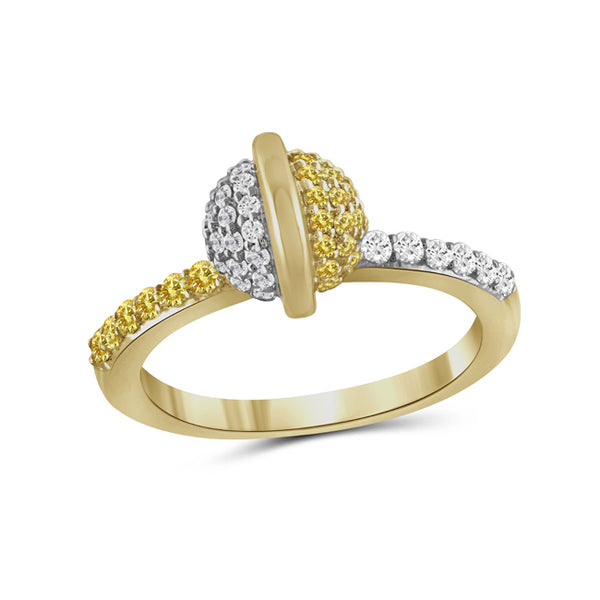 Diamonair Gold Round Ring