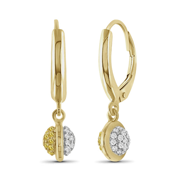 Diamonair Gold Round Earrings