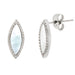 Stainless Steel Mother Of Pearl Marquise Earrings