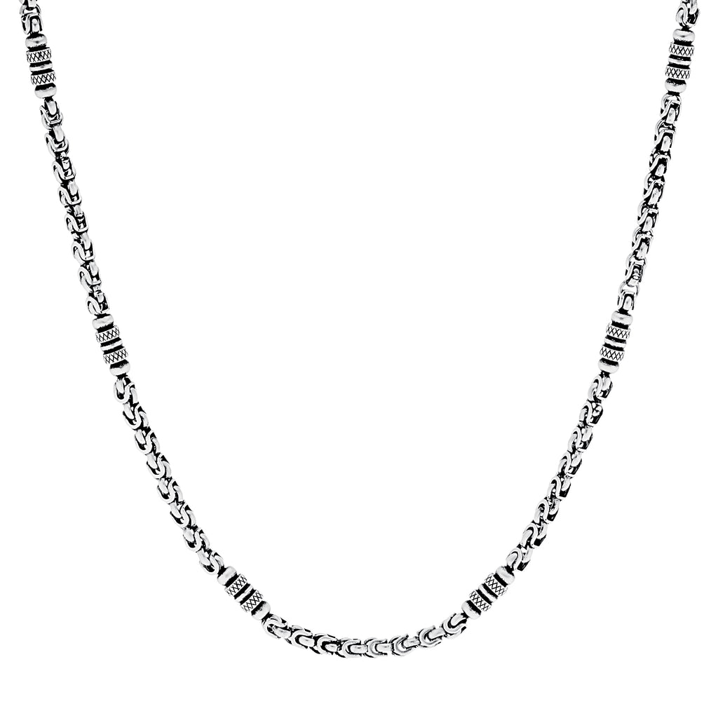 Stainless Steel Oxi Rounded Links Necklace