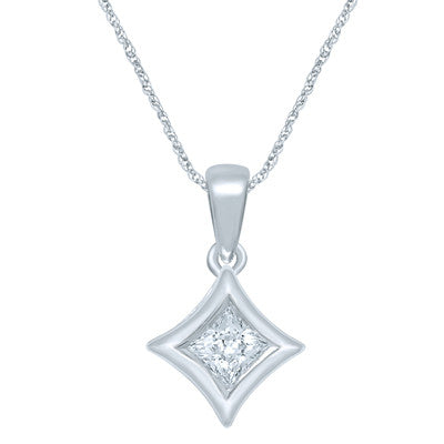 STARRA™ 1/3 CT. DIAMOND SOLITAIRE PENDANT