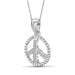 1/20 Carat T.W. Genuine White Diamond Peace Pendant in 14K White Gold