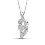 1/10 Carat T.W. Genuine White Diamond Heart Pendant in 14K White Gold