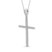 1/7 Carat T.W. Genuine White Diamond Cross Pendant in 14K White Gold