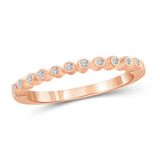 1/10 Carat T.W. Genuine White Diamond 14K Rose Gold Ring