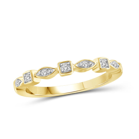1/10 Carat T.W. Genuine White Diamond 14K Yellow Gold Ring