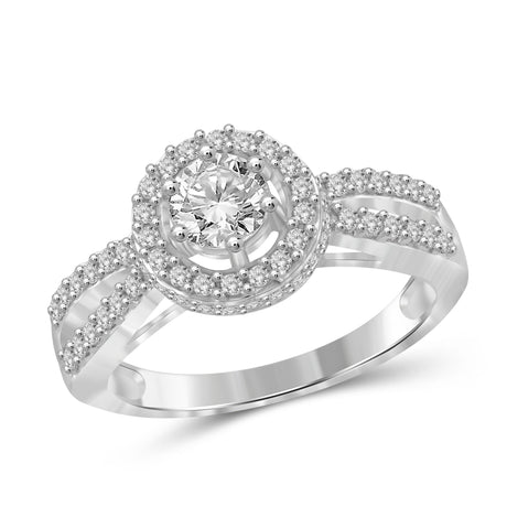 1.00 Carat T.W. Genuine White Diamond 14K White Gold Ring