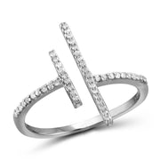 1/7 Carat T.W. Genuine White Diamond Open Ring in 14K White Gold