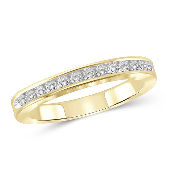 1/4 Carat T.W. Genuine White Diamond 14K Yellow Gold Band