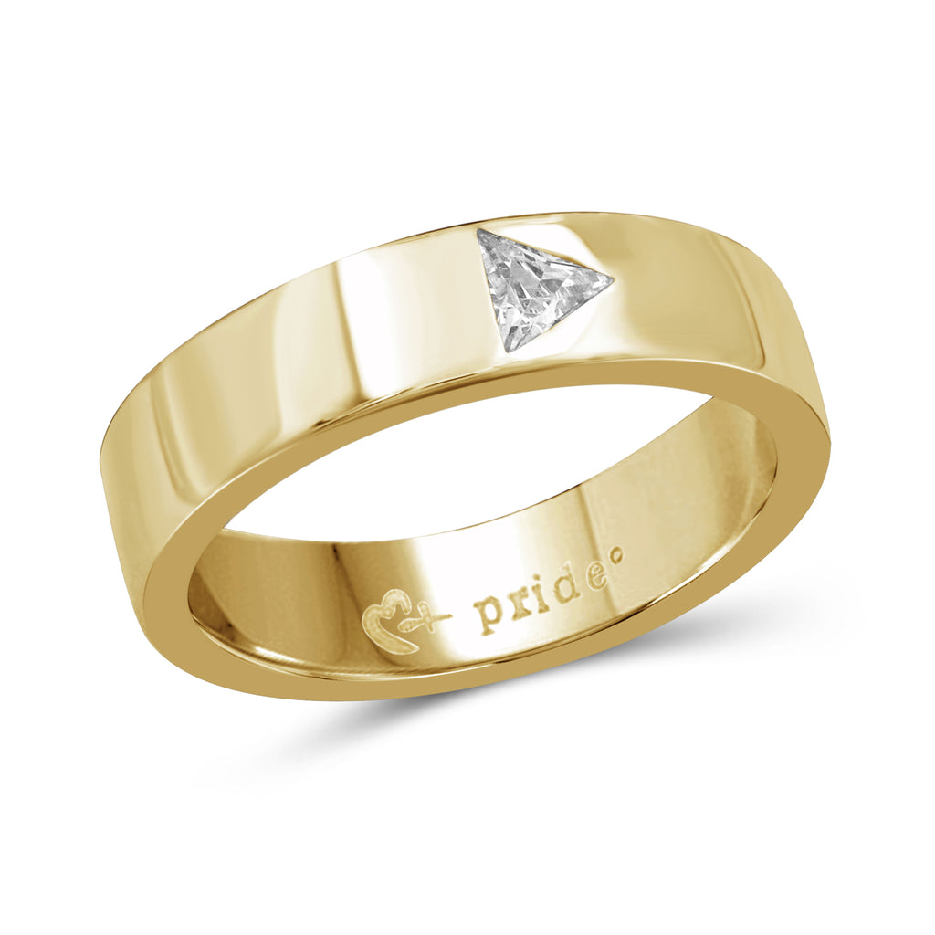 1/3 CTW 14K Yellow Gold Trillion Ring