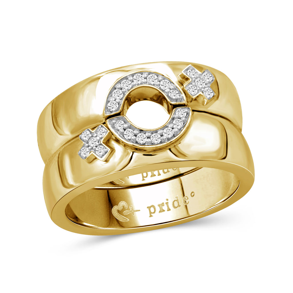 1/5 CTW 14K Yellow Gold Female Insignia Combination Ring