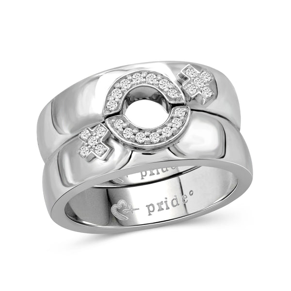 1/5 CTW 14K White Gold Female Insignia Combination Ring