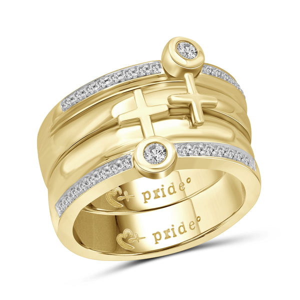 1/2 CTW 14K Yellow Gold Male Insignia Combination Ring