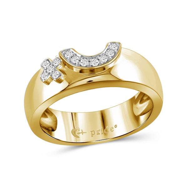 1/10 CTW 14K Yellow Gold Female Insignia Ring