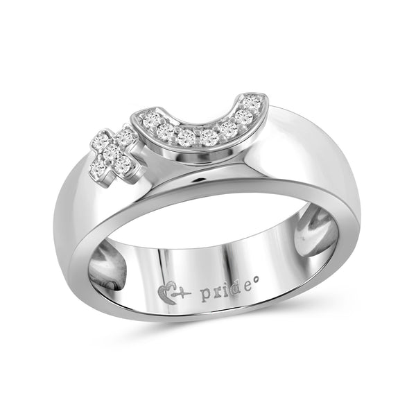 1/10 CTW 14K White Gold Female Insignia Ring