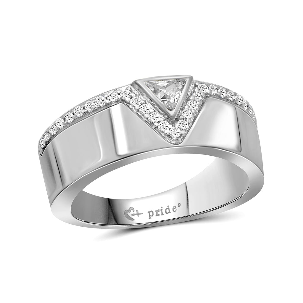 1/2 CT. T.W. Trillion-Cut Diamond Anniversary Band in 14K White Gold