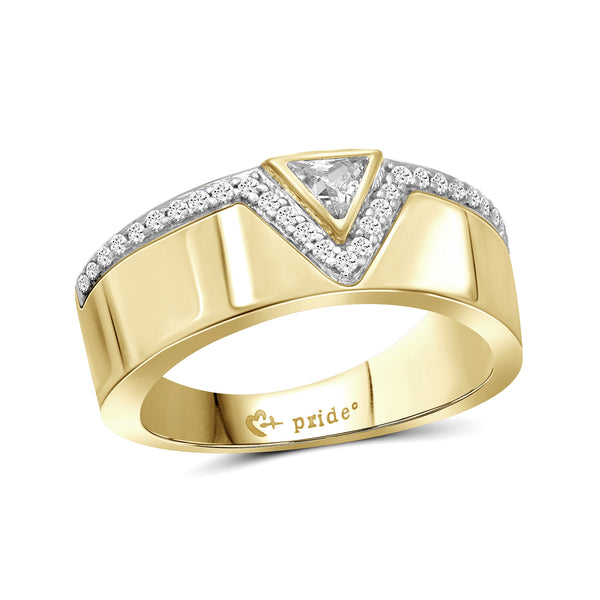 1/2 CT. T.W. Trillion-Cut Diamond Anniversary Band in 14K Yellow Gold