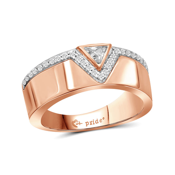 1/2 CT. T.W. Trillion-Cut Diamond Anniversary Band in 14K Rose Gold