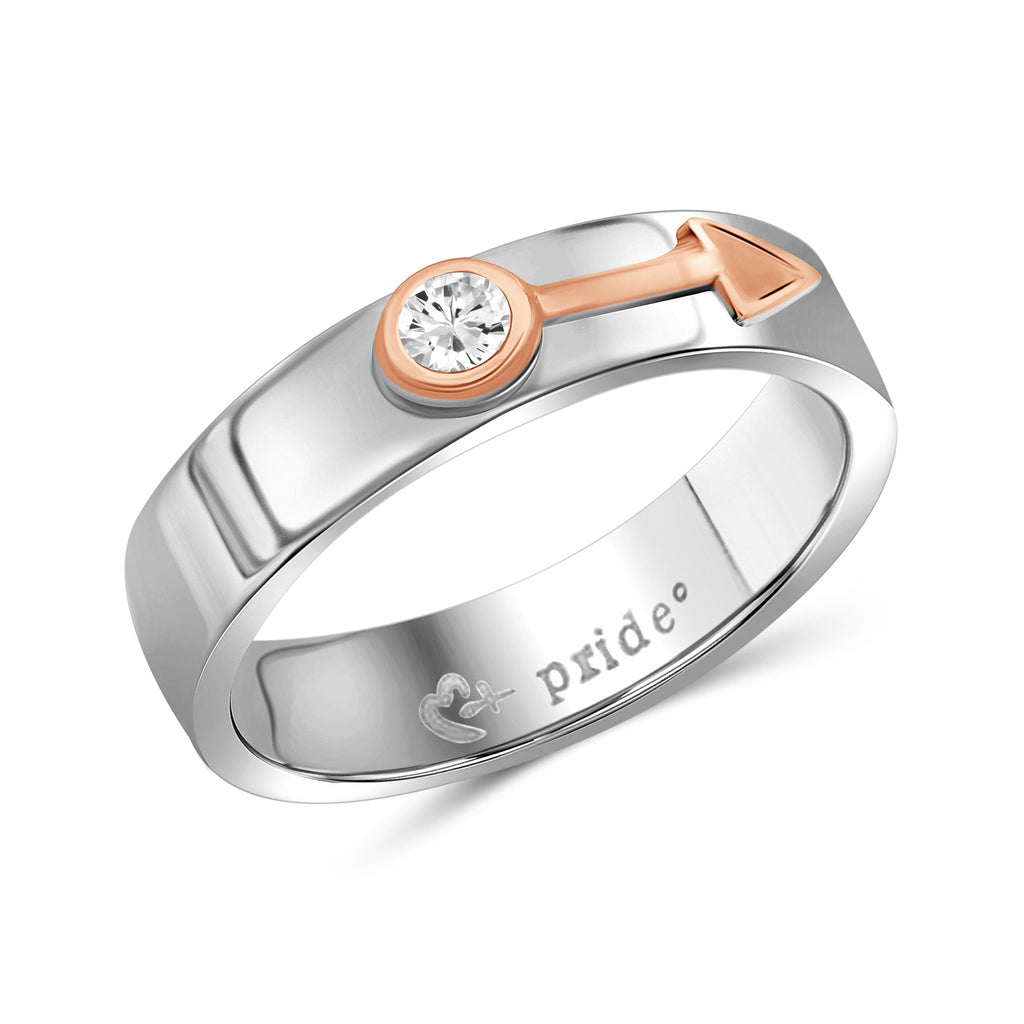 1/5 CTW 14K Two-tone Rose Gold Male Insignia Ring