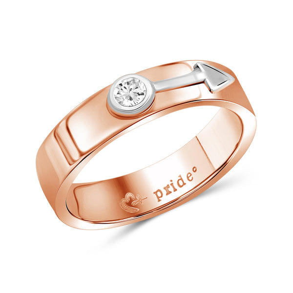 1/5 CTW 14K Rose Two-tone Gold Male Insignia Ring