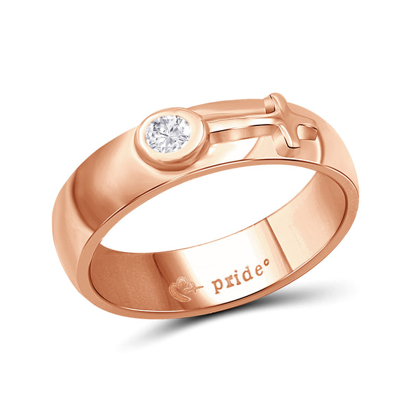 1/5 CTW 14K Rose Gold Ring with Female Insignia