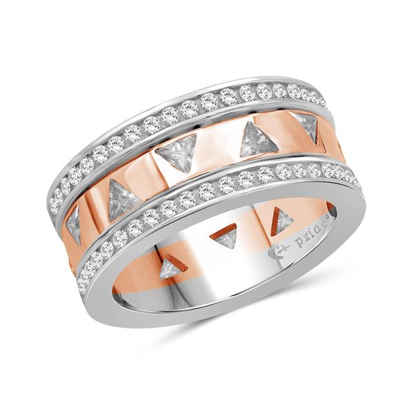 2.10 CTW 14K Two Tone Rose Gold Diamond Ring