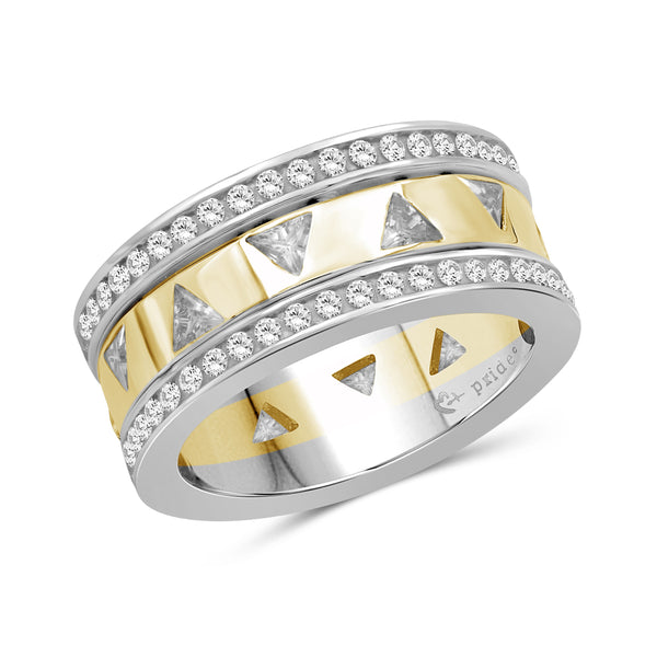 2.10 CTW 14K Two Tone Yellow Gold Diamond Ring