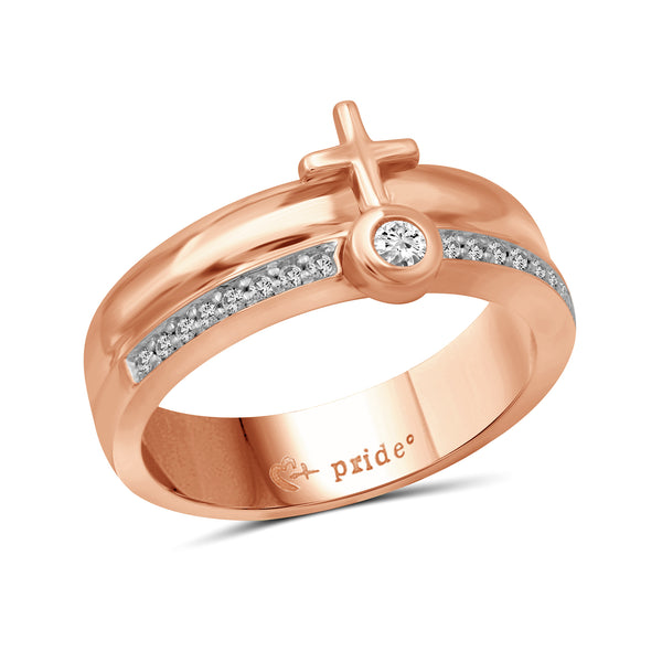 1/4 CTW 14K Rose Gold Female Insignia Combination Ring