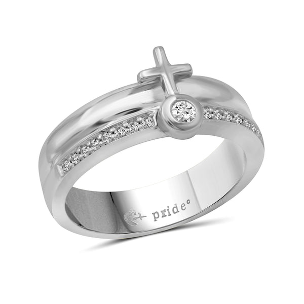 1/4 CTW 14K White Gold Female Insignia Combination Ring