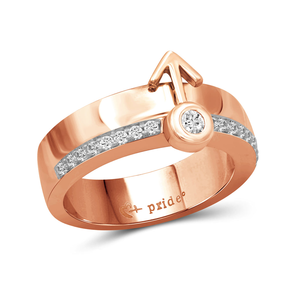 1/4 CTW 14K Rose Gold Male Insignia Ring