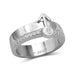 1/4 CTW 14K White Gold Male Insignia Ring