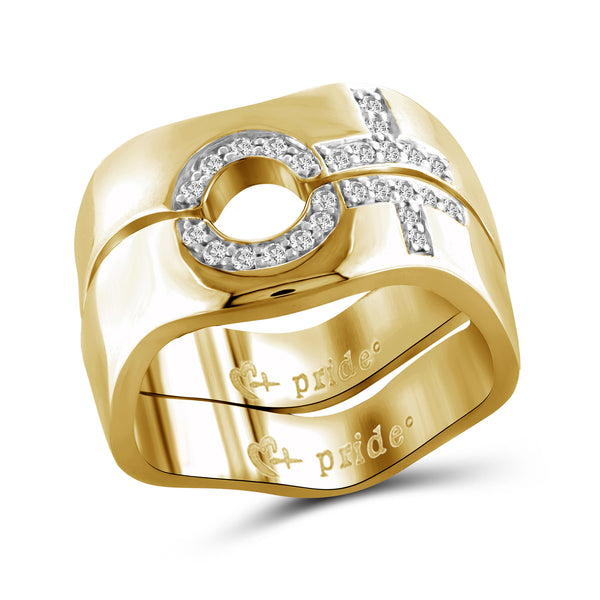 1/5 CTW 14K Yellow Gold Female Combination Ring