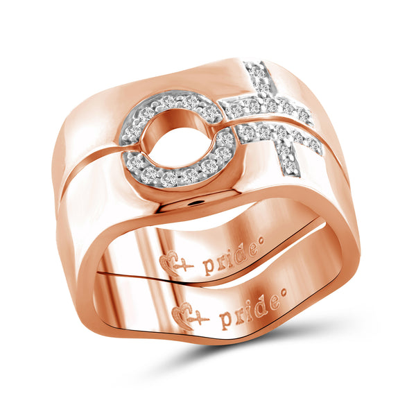 1/5 CTW 14K Rose Gold Female Combination Ring