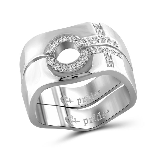1/5 CTW 14K White Gold Female Combination Ring